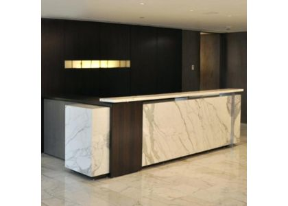 How to design an office reception desk