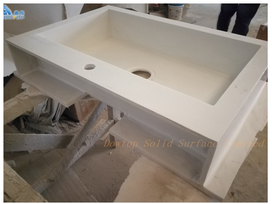 Luxury pure white hotel bathroom vanities