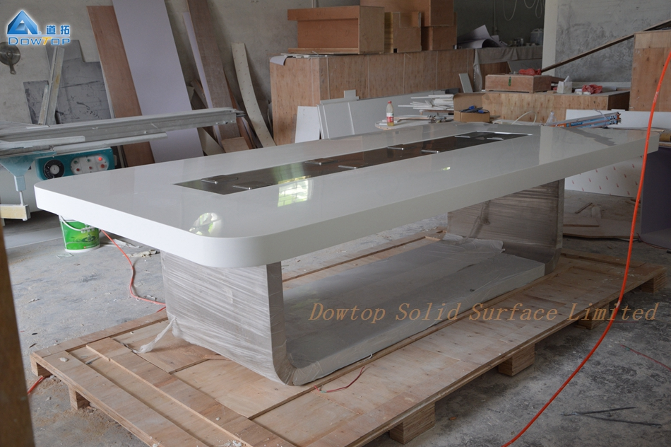 Italy design solid surface rectangle conference table