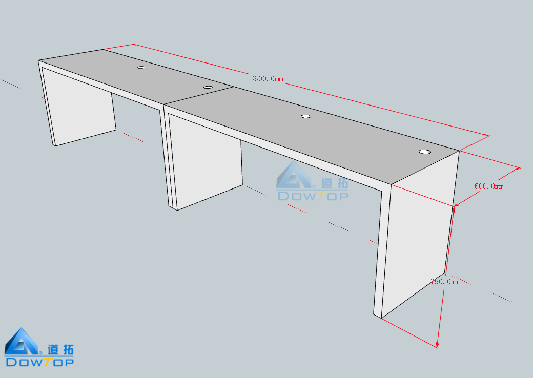 New Design Corian Furniture Work Bench Style Office Desk